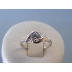 Zlatý dámsky prsteň biele zlato zirkón DP51211B 14 karátov 585/1000 2,11g