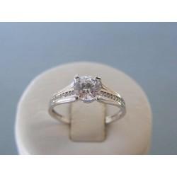 Zlatý dámsky prsteň biele zlato zirkóny DP57244 14 karátov 585/1000 2,44g