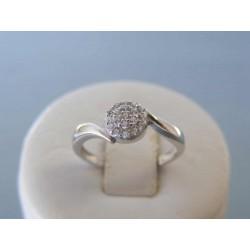 Zlatý dámsky prsteň biele zlato číre zirkóny DP51139 14 karátov 585/1000 1,39g