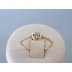 Zlatý dámsky prsteň žlté zlato zirkóny DP55126Z 14 karátov 585/1000 1,26g
