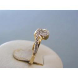 Zlatý dámsky prsteň žlté zlato biele zirkóny DP53178Z 14 karátov 585/1000 1,78g