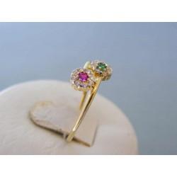 Zlatý dámsky prsteň kvety žlté zlato DP55132Z 14 karátov 585/1000 1,32g