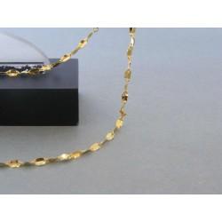 Zlatá dámska retiazka žlt zlato DR45178 14 karátov 585/1000 1,78g