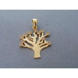 Zlatý dámsky prívesok strom života zirkóny DI151Z 14 karátov 585/1000 1,51g
