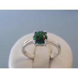 Strieborný dámsky prsteň tmavý opál VPS60346 925/1000 3,46g