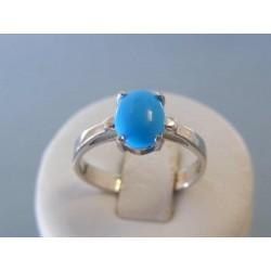 Strieborný dámsky prsteň modré očko oval VPS60328 925/1000 3,28g