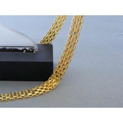 Zlatá dámska retiazka vzor bismark žlté zlato DR455841Z 14 karátov 585/1000 8,41g