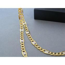 Zlatá pánska retiazka figaro biele žlté zlato DR60512V 14 karátov 585/1000 5,12g