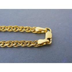 Zlatá pánska retiazka vzorovaná žlté zlato DR55528Z 14 karátov 585/1000 5,28g