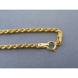 Zlatá dámska retiazka točený vzor žlté zlato DR45226Z 14 karátov 585/1000 2,26g