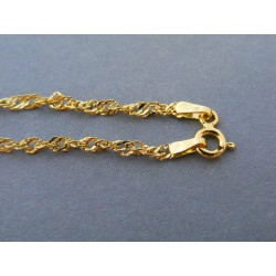 Zlatá dámska retiazka  vzor singapur žlté zlato DR495166Z 14 karátov 585/1000 1,66g