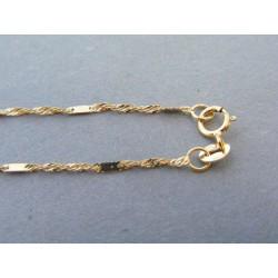 Zlatá dámska retiazka vzorovaná žlté zlato DR45143Z 14 karátov 585/1000 1,43g