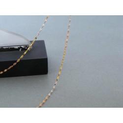 Zlatá dámska retiazka vzorovaná trojfarebné zlato DR45143V 14 karátov 585/1000 1,43g