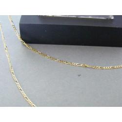 Zlatá pánska retiazka vzor figaro žlté zlato DR55219Z 14 karátov 585/1000 2,19g