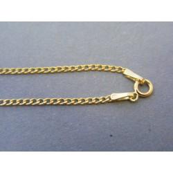 Zlatá retiazka vzor pancier žlté zlato DR545122Z 14 karátov 585/1000 1,22g