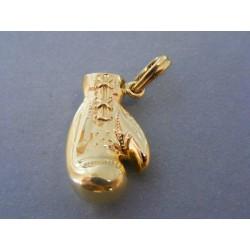 Zlatý prívesok boxerska rukavica žlté zlato DI705Z 14 karátov 585/1000 7,05g