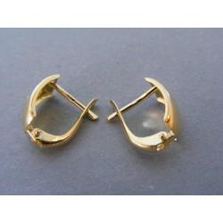Zlaté dámske náušnice žlté zlato DA169Z 14 karátov 585/1000 1,69g