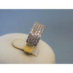 Zlatý dámsky prsteň biele zirkóny žlté zlato VP53258Z 14 karátov 585/1000 2,58g