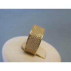 Zlatý dámsky prsteň žlté zlato zirkóny VP53316Z 14 karátov 585/1000 3,16g