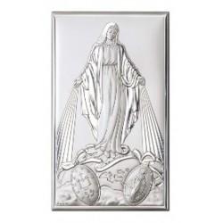 Strieborný obraz Panna Mária obdlžník VO813224+L12