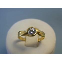 Zlatý dámsky prsteň žlté zlato zirkón DP55233Z 14 karátov 585/1000 2,33g