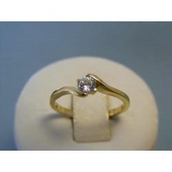 Zlatý dámsky prsteň biely zirkón žlté zlato DP53208Z 14 karátov 585/1000 2,08g