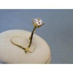 Zlatý dámsky prsteň žlté zlato zirkón DP55146Z 14 karátov 585/1000 1,46g