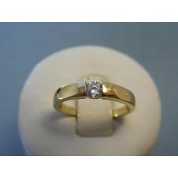 Zlatý dámsky prsteň zirkón žlté zlato DP55284Z 14 karátov 585/1000 2,84g