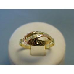 Zlatý dámsky prsteň žlté červené zlato DP64202V 14 karátov 585/1000 2,02g