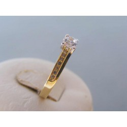 Zlatý dámsky prsteň zirkóny žlté biele zlato VP58310V 14 karátov 585/1000 3,10g