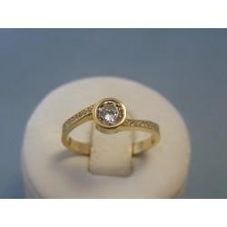 Zlatý dámsky prsteň žlté zlato zirkóny VP59279Z 14 karátov 585/1000 2,79g