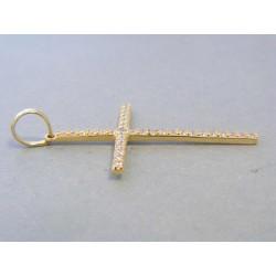Zlatý dámsky prívesok kríž žlté zlato zirkóny DI176Z 14 karátov 585/1000 1,76g