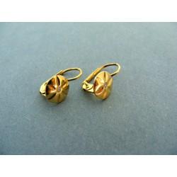 Dámske zlaté náušnice s diamantom žlté zlato