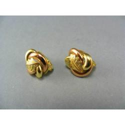 Zlaté náušnice zlato viacfarebné ružička s litom VA640V