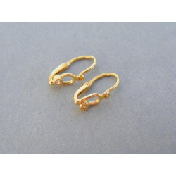 Zlaté detské náušnice jednoduché žlté zlato kamienok DA079Z