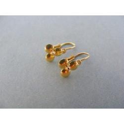 Zlaté  detské náušnice okuzľujúce žlté zlato DA095Z