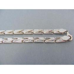 Zlatá retiazka vzor Z biele zlato povrch vzorovaný DR4551164B