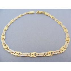Zlatý náramok dvojfarebné zlato DN23815V