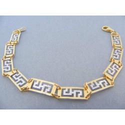 Zlatý náramok dvojfarebné zlato  DN185466V