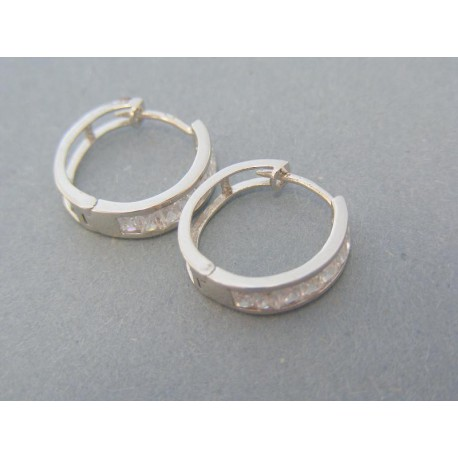 Dámske náušnice kruhy malé kamienky