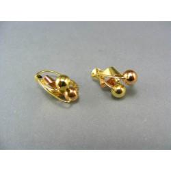 Zlaté náušnice viacfarebné zlato čerešničky VA494V