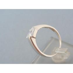 Zlatý prsteň biele zlato štvorcový zirkón