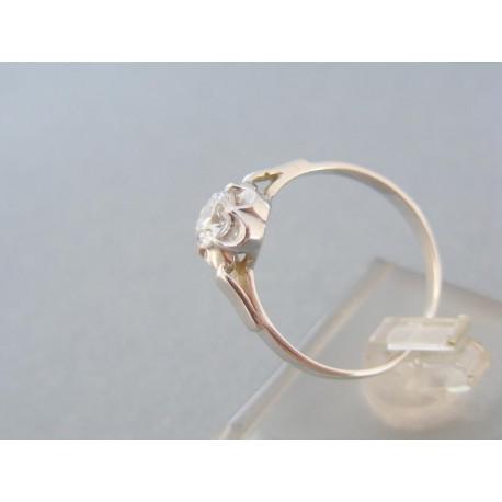 Dámsky prsteň biele zlato zirkón v tvare kvetu
