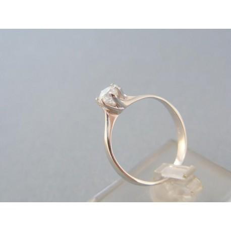 Prsteň dámsky biele zlato zirkón v korunke šperku