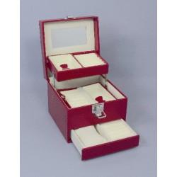Šperkovnica -bordova , čierna a ružova SP252CV
