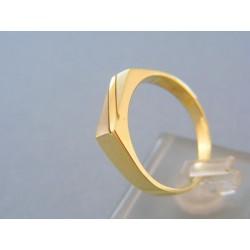 Pánsky prsteň žlté biele zlato