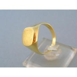Zlatý pánsky prsteň jednoduchý žlté zlato bez vzoru DP60585Z
