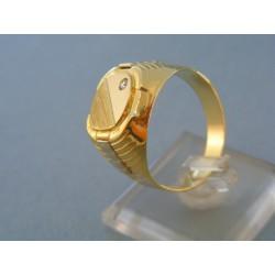 Zlatý prsteň žlté biele zlato kamienok zirkónu DP66818V