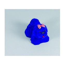 Krabička zamatová modrá ozdobná zvieratko FU65