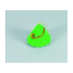 Krabička zamatová zelená ozdobná FU07